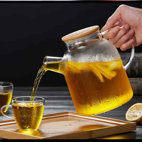 Bình thủy tinh pha trà nắp gỗ   ĐẸP BỀN GIÁ TỐT