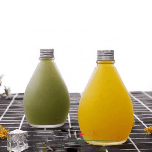 Bình thủy tinh giọt nước 500ml  | NHẬN IN LOGO THƯƠNG HIỆU TEM NHÃN