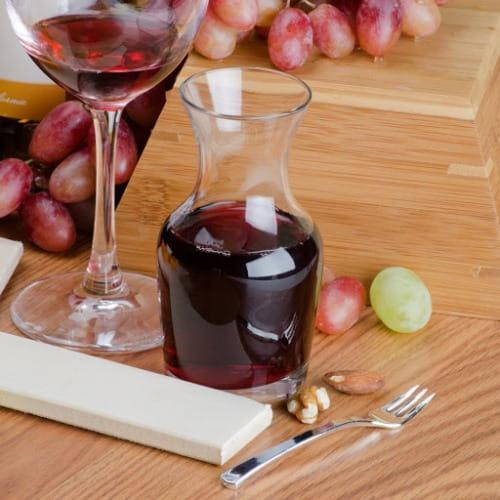 Bình thủy tinh đựng rượu vang | Nhận in logo giá tại xưởng