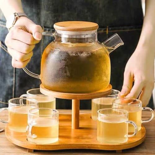 Bình thủy tinh pha trà nắp gỗ | ĐẸP BỀN GIÁ TỐT