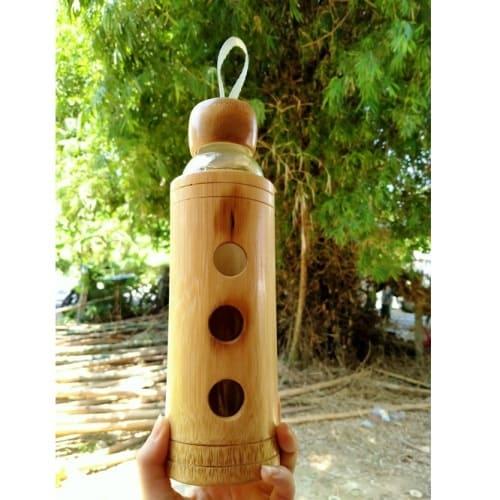 Bình uống nước bằng tre khắc lazer logo | SẢN PHẨM TỰ NHIÊN
