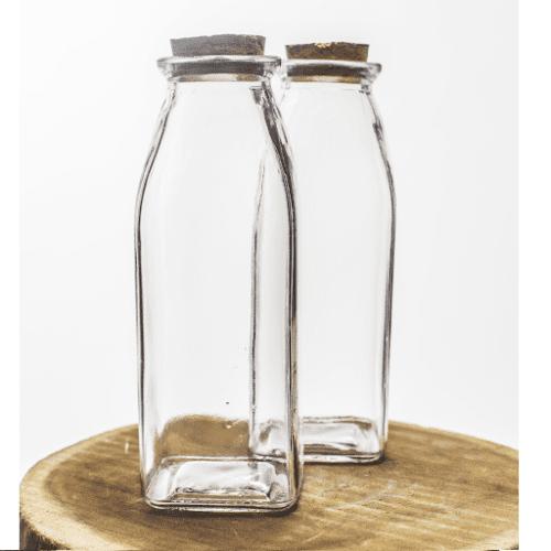 Chai thủy tinh vuông nút gỗ | IN LOGO TEM NHÃN GIÁ RẺ PHẢI CHĂNG