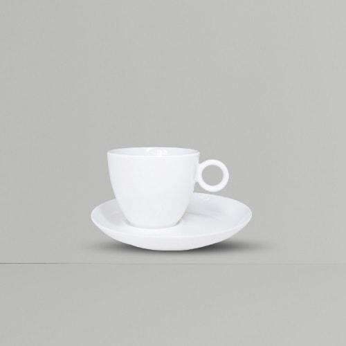 Ly sứ cafe có quai tròn 80ml - NHẬN IN LOGO GIÁ RẺ