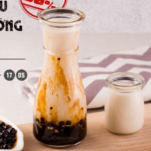 Ly thủy tinh eo đựng trà sữa đẹp  Giá siêu ưu đãi