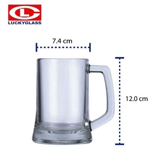 Ly thủy tinh uống bia nhập khẩu   NHẬN IN LOGO GIÁ RẺ PHẢI CHĂNG