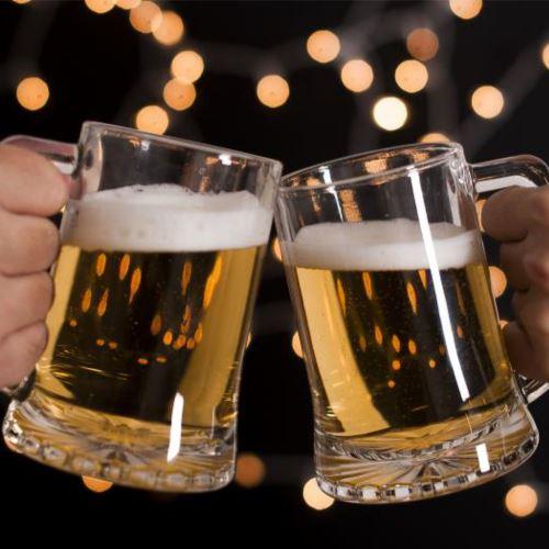 Ly thủy tinh uống bia nhập khẩu | NHẬN IN LOGO GIÁ RẺ PHẢI CHĂNG