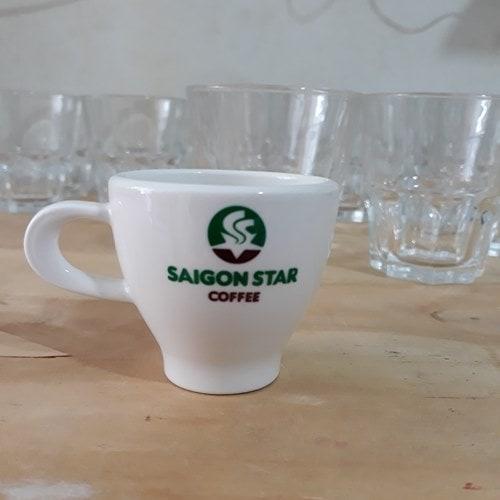 Tách cà phê sứ espresso cafe 150ml - NHẬN IN LOGO GIÁ RẺ