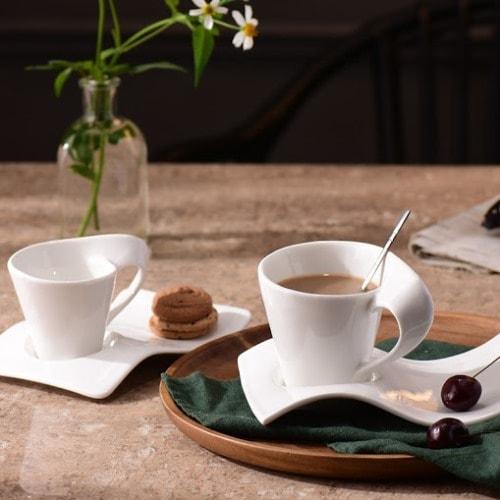 Tách sứ quai xoắn latte cafe 260ml - NHẬN IN LOGO GIÁ RẺ