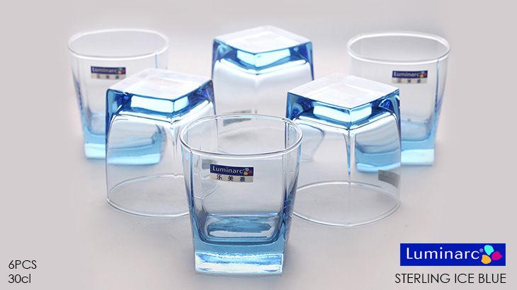 Ly thủy tinh cao cấp luminarc Sterling Ice blue J1582 thấp