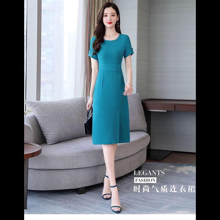 Đầm ôm body xanh sang trọng
