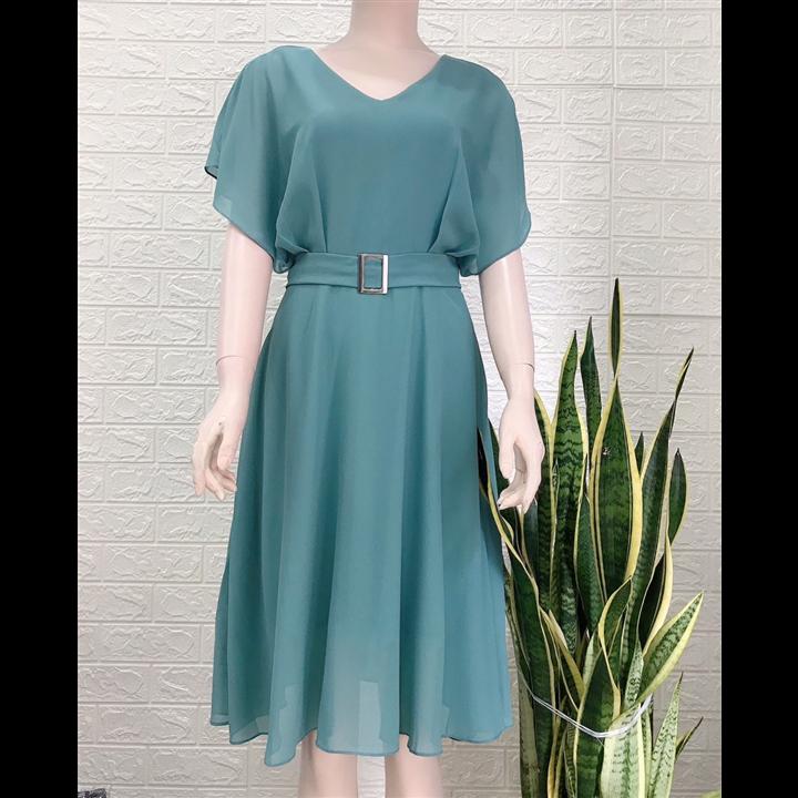 Đầm xòe cánh tiên xanh ngọc đẹp
