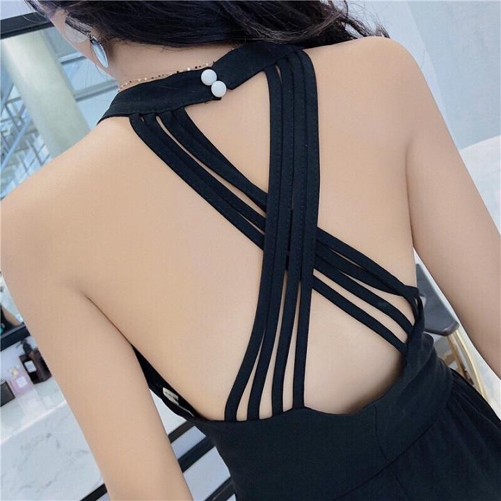 Đầm maxi hở lưng chéo dây gợi cảm