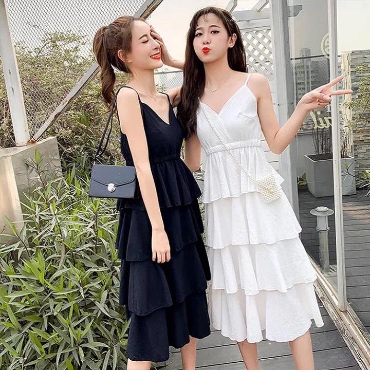 Đầm xòe tầng cao cấp