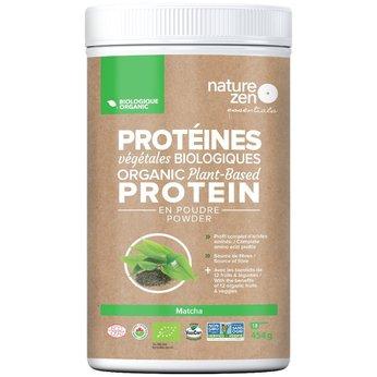 Bột Protein Ngũ cốc Hữu Cơ Cô Đặc Nature Zen - vị Trà xanh 454gm
