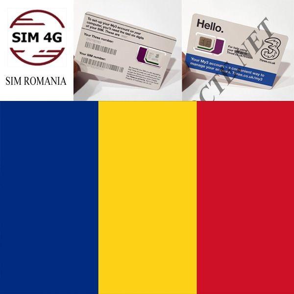 SIM ROMANIA 4G 15 ngày- Online không giới hạn, tha hồ lướt web
