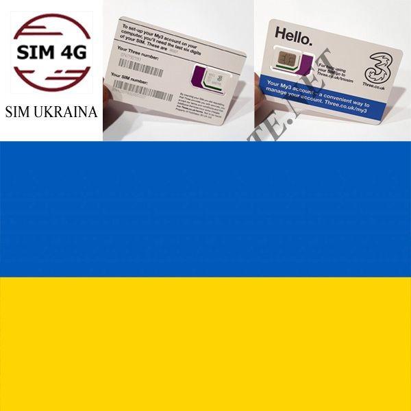 SIM 4G UKRAINE 30 Ngày, 12GB,