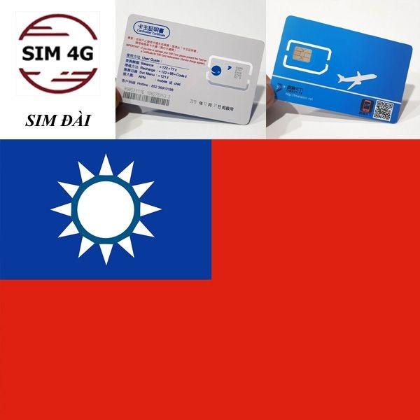 SIM ĐÀI LOAN 4G 8 NGÀY- kết nối internet mọi nơi
