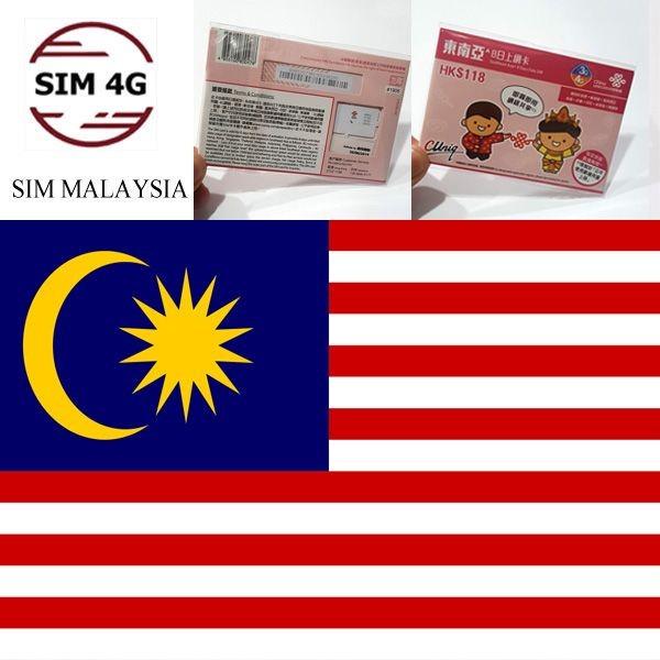 SIM 4G  MALAYSIA 8 Ngày