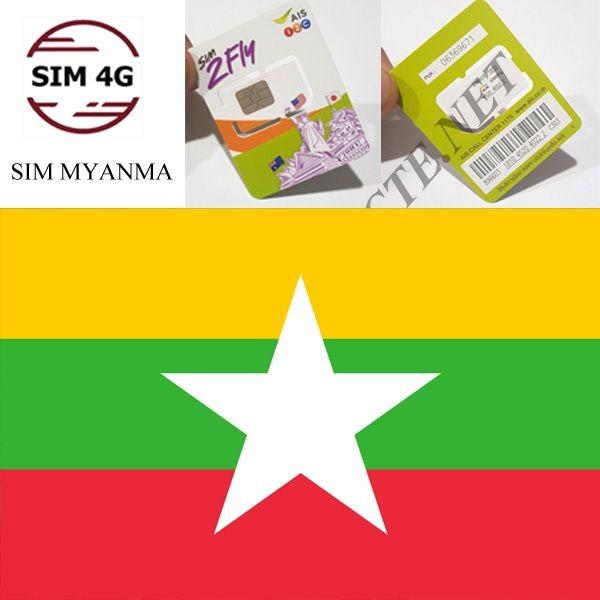 SIM 4G  MYANMAR 8 Ngày