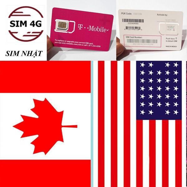 SIM MỸ Và CANADA 30 Ngày Gọi Không Giới Hạn