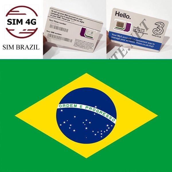 SIM 4G  BRASIL 30 Ngày 5GB