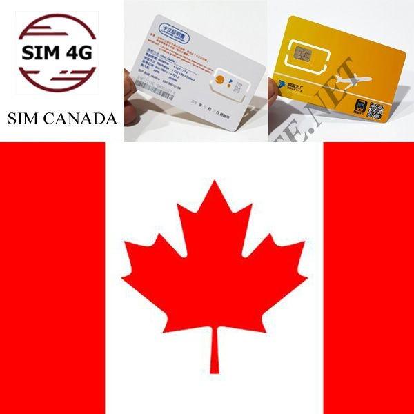 SIM 4G  CANADA 30 Ngày, 5GB