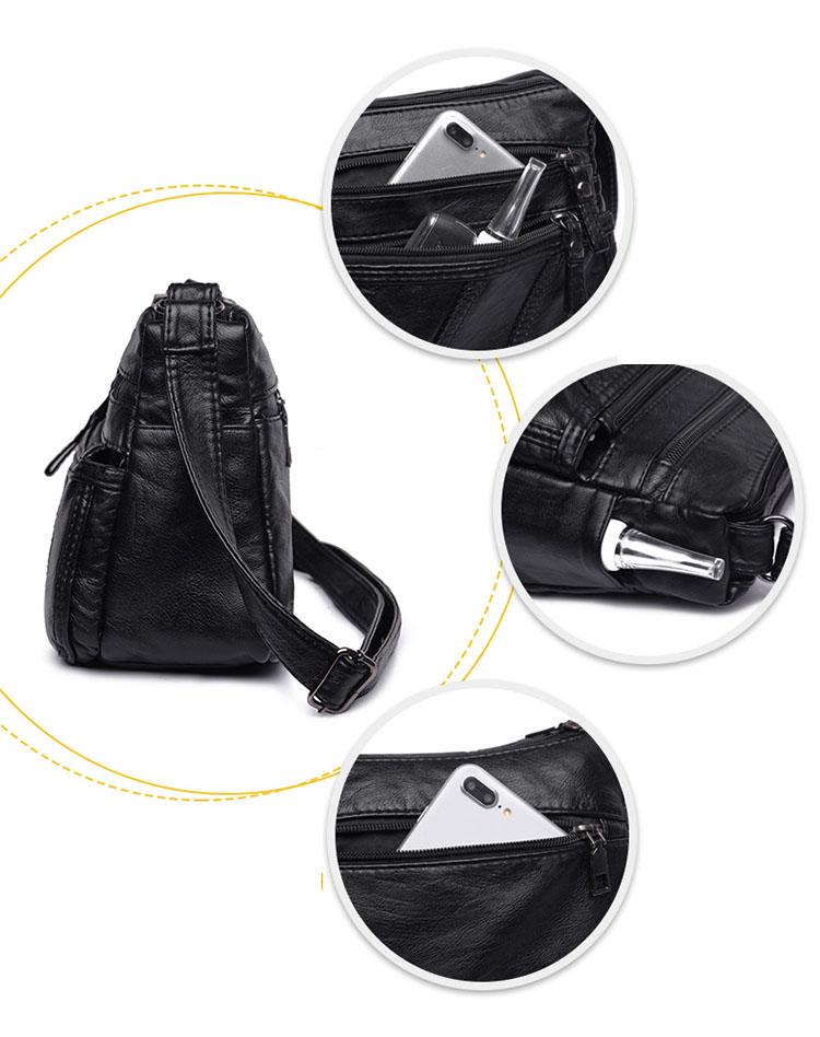 Túi đeo chéo vai da nữ cổ điển kiểu 3 chỉ thắng thời trang siêu bền SHD81 Shalla (túi đeo chéo vai da giá sỉ)