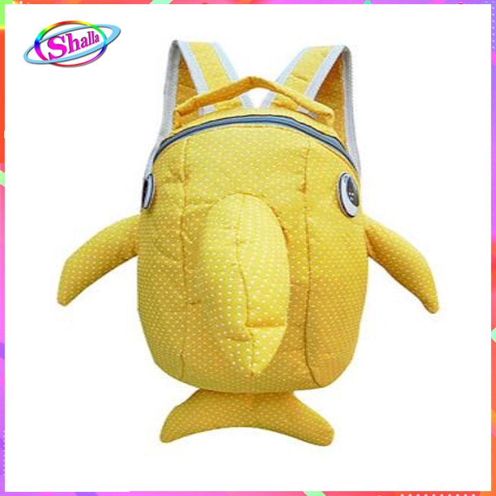 Balo thời trang cho bé hình cá mập chấm bí dễ thương đáng yêu cao cấp Shalla (balo thời trang cho bé hình cá mập chuyên sỉ)