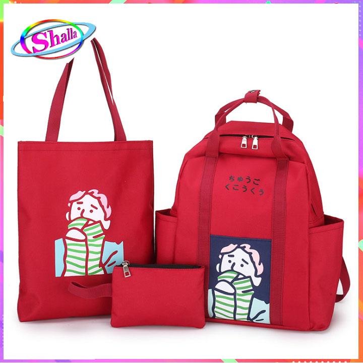 Bộ combo túi 3 cái Hàn Quốc Chàng Trai Mùa Đông NSE10 Shalla (bộ túi combo giá sỉ rẻ)