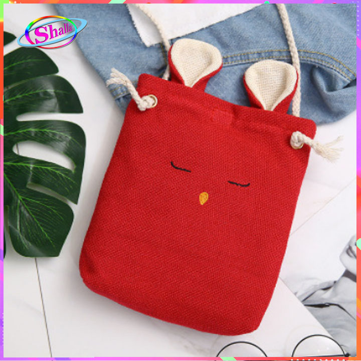 Túi đeo chéo vải bố mini tai thỏ dễ thương thời trang SMS3 Shalla (túi đeo chéo vải bố chuyên sỉ)