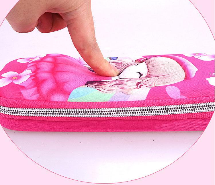 Hộp đựng bút cao cấp in hình 3D đa sắc màu nhiều mẫu hình cho bé thời trang Shalla