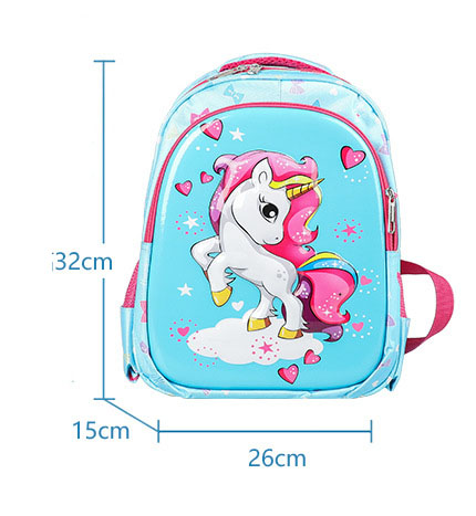 Balo cho bé gái in hình 3d ngựa PoNy thả tim thời trang dễ thương Shalla (Balo cho bé gái in hình 3d ngựa pony thả tim chuyên sỉ )