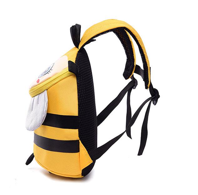 Balo cho bé đi học in hình ong bầu dễ thương kèm dây chống đi lạc cao cấp Shalla (balo cho bé đi học in hình ong bầu dễ thương chuyên sỉ)