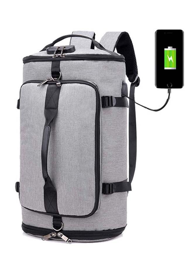 Túi du lịch balo đa năng có cáp sạt USB Buckle M21 có khóa CMI Shalla Tặng cáp sạt [túi du lịch giá rẻ sỉ]  hàng đẹp không lỗi , chính sách 1 đổi 1 , bảo hành sản phẩm cao , luôn quan tâm chất lượng