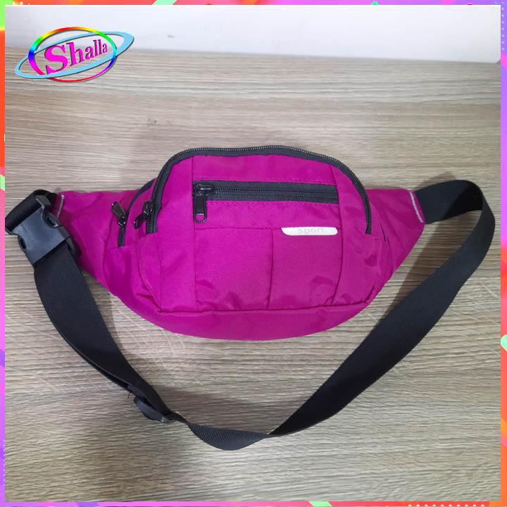 Túi đeo chéo đeo hông nam nữ màu bóng thời trang cao cấp TS52 Shalla (túi đeo chéo đeo hông giá sỉ)