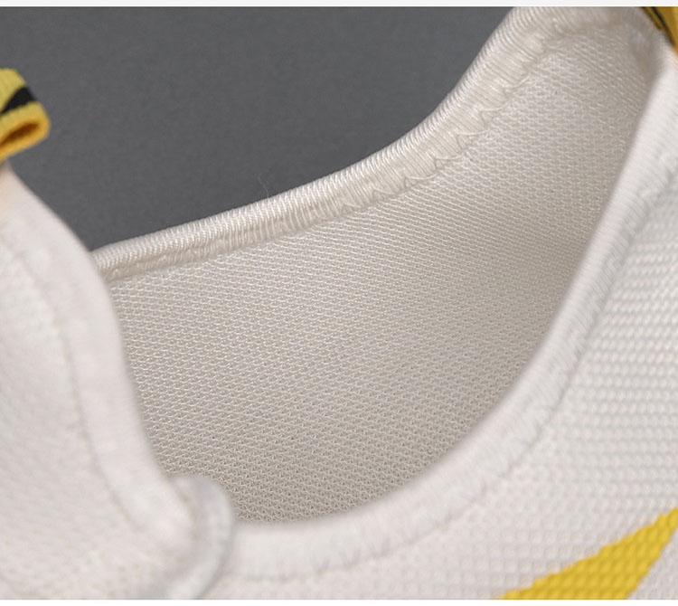 Giày thể thao nam cổ thấp Sneake Đế sấm sét chỉ vàng trắng du lịch thể thao Shalla {Giày thể thao giá rẻ}