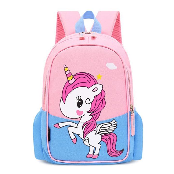 Balo cho trẻ in hình ngựa PoNy phối màu cao cấp thời trang Shalla( balo cho trẻ in hình ngựa PoNy phối màu giá sỉ)