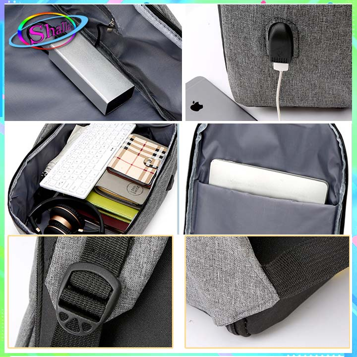Balo laptop siêu nhẹ có cổng sạt USB Bopa H3 Shalla Tặng cáp sạt [cung cấp balo giá sỉ] , hàng đẹp không lỗi , chính sách 1 đổi 1 , bảo hành sản phẩm cao , luôn quan tâm chất lượng