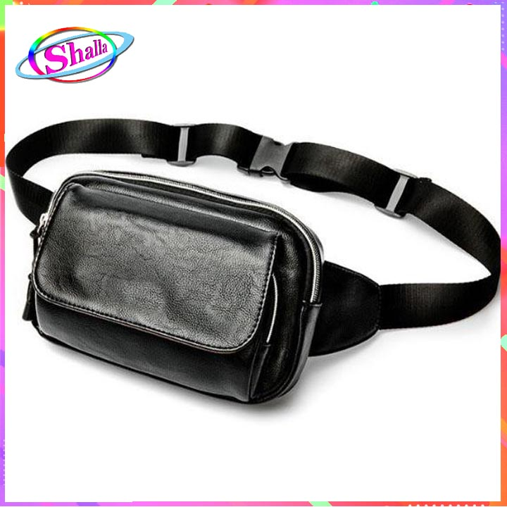 Túi đeo chéo nam nữ da trơn nắp hít thời trang  SA65 Shalla (túi đeo chéo da đặt hàng giá sỉ)