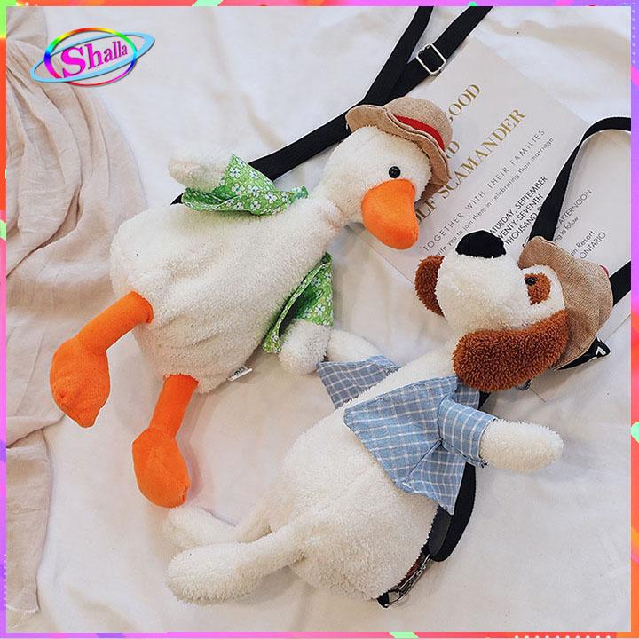 Túi đeo chéo gấu bông vịt áo thời trang cao cấp KNS20 Shalla (túi đeo chéo vịt áo giá sỉ rẻ)