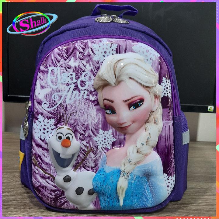 Balo 3D cho trẻ siêu đẹp Hình Frozen thời trang dễ thương 8008 K95 Shalla (balo 3D cho trẻ nguồn giá sỉ)
