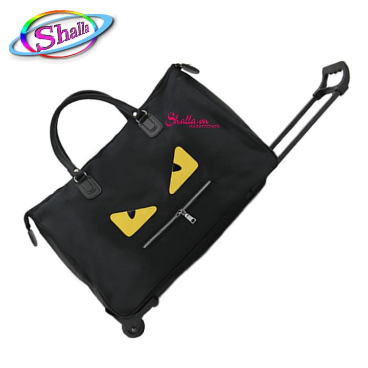 Túi du lịch cần kéo 3CE, mắt cú Shalla Tặng khóa (Đen ,hồng) [túi cần kéo giá chuyên sỉ] hàng đẹp không lỗi , chính sách 1 đổi 1 , bảo hành sản phẩm cao , luôn quan tâm chất lượng
