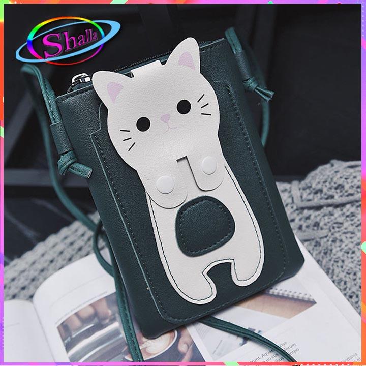 túi ví đeo chéo điện thoại mèo trắng dễ thương thời  trang  Shalla  [cung cấp ví cầm tay nữ giá sỉ] . thị trường sỉ ví cầm tay