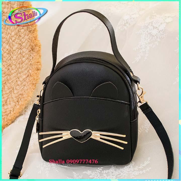 Balo mini thời trang Hình râu mèo  dạo phố TH12 Shalla [balo mini giá rẻ sỉ] hàng đẹp không lỗi , chính sách 1 đổi 1 , bảo hành sản phẩm cao , luôn quan tâm chất lượng