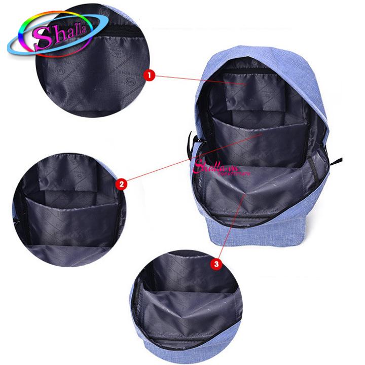 Balo hai hộp trơn thời trang cao cấp SKM2 Shalla (balo hai hộp trơn thời trang chuyến sỉ)
