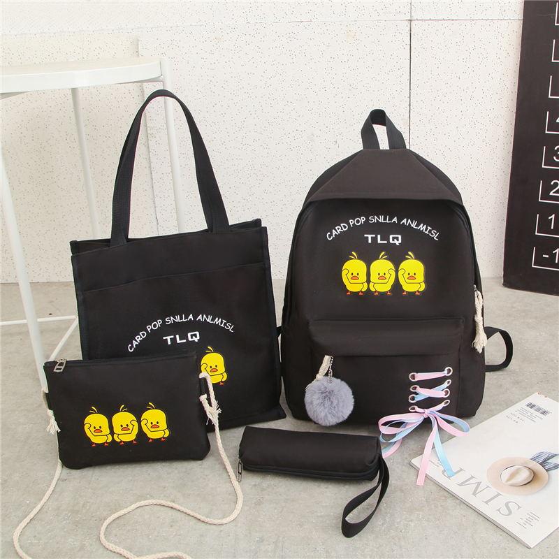 Balo nữ Set 4 món balo túi thời trang 3 VỊT Shalla HXN95 (balo nữ set 4 món giá sỉ)