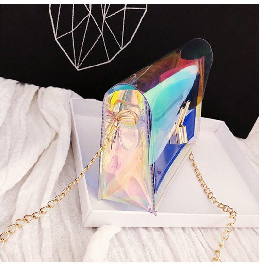 Túi laser cầu vòng vuông nhỏ hợp thời trang Shalla [ nguồn hàng túi đeo chéo giá sỉ]túi đeo chéo  sỉ nhiều mẫu ngẫu nhiên