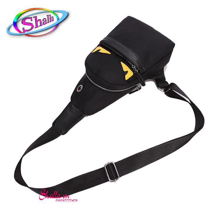 Túi đeo chéo mắt cú mẫu mới Shalla (đen) [đeo chéo mắt cú giá sỉ] , hàng đẹp không lỗi , chính sách 1 đổi 1 , bảo hành sản phẩm cao , luôn quan tâm chất lượng