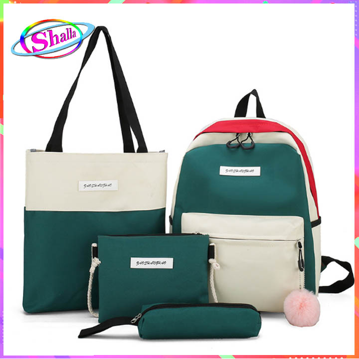 bộ combo túi xách tay balo 4 món phối thời trang dạo phố HX32  Shalla (bộ combo túi xách tay giá sỉ)