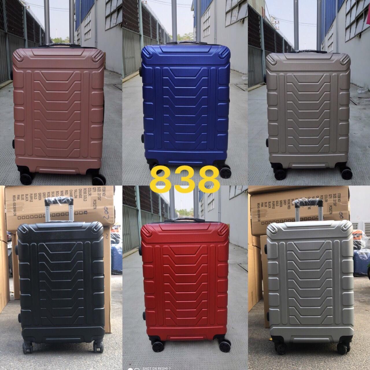 vali nhựa du lịch (838) 24 inch vali sỉ số lượng lớn